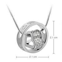 Women Fashion Austria Crystal Women Srike Lucky Pendant Necklace Valentines Gift