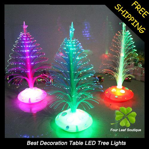 5Pcs/set High quality fiber optic Christmas tree Christmas decorations, Club, Nice Decoration Product(China (Mainland))