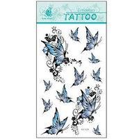 (12pcs) Free Shipping 2015 New Temporary Tattoo Sexy Flash Women Fake Makeup Large Waterproof Body Tattoo Stickers -Butterflies