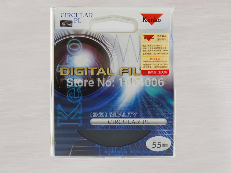 2015 New 55mm Kenko CPL Circular Polarizing Filter Lens Protector Camera C-PL Lens Filtre As Hoya B+W Andoer CPL(China (Mainland))