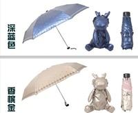 Lady's love Creative Children Umbrella, Super light 5 folding Umbrella, super thin fabric, UV Protection, Wholesale supported.