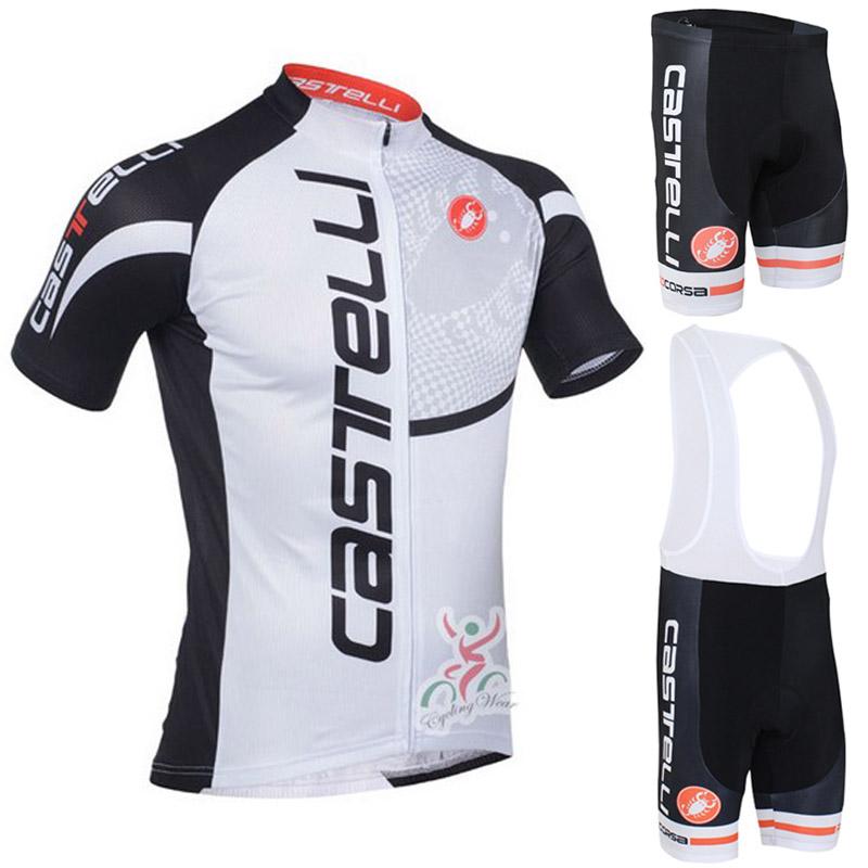 Pro Cycling Jerseys Roupa Ciclismo/Summer Breathable Racing Bicycle Clothing/Quick-Dry Lycra GEL Pad Race MTB Bike Bib Pants(China (Mainland))