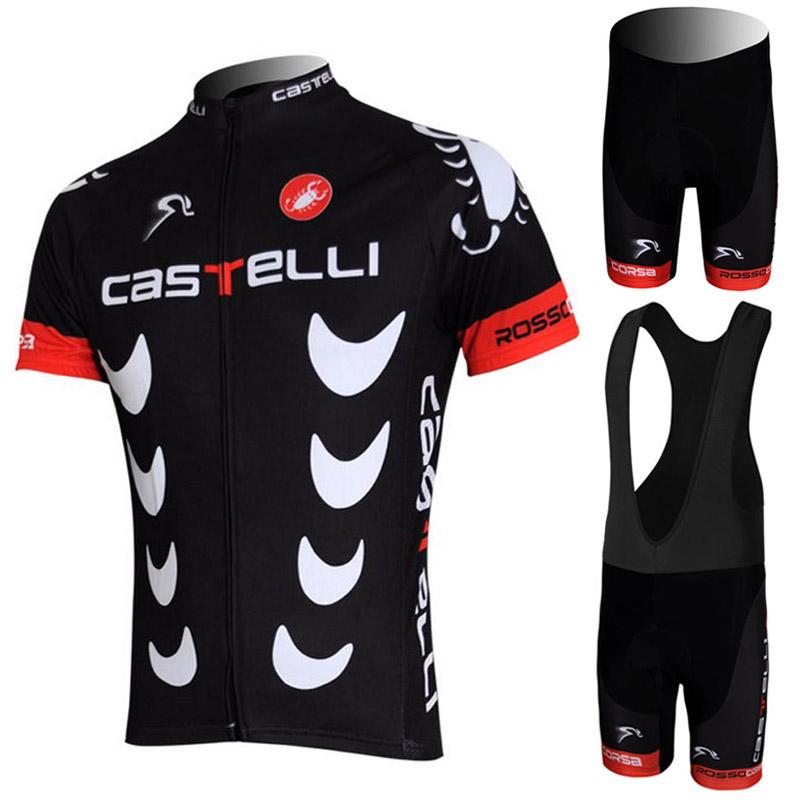 High Quality Cycling Jerseys Roupa Ciclismo/Breathable Racing Bicycle Clothing/Quick-Dry Lycra GEL Pad Race Bike Bib Pants(China (Mainland))