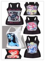 Sexy Vest Print Top crochet top regata feminina women tops and blouses fashion adventure time blusas femininas camisole emoji