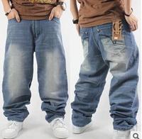 plus size men's rock eckoco hip hop jeans ,2014 new baggy jeans, top fashion designer brands men Hip Hop jeans men trousers