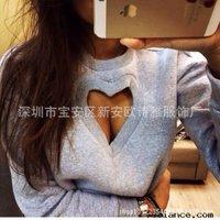 Free shipping 2015 hot selling woman's Long sleeve Peach heart burn flowers fleece F7905