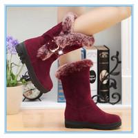 Winter Boot Slip-resistant Nubuck Leather Snow Boots New style FashionKeep Warm  Femininas Botas