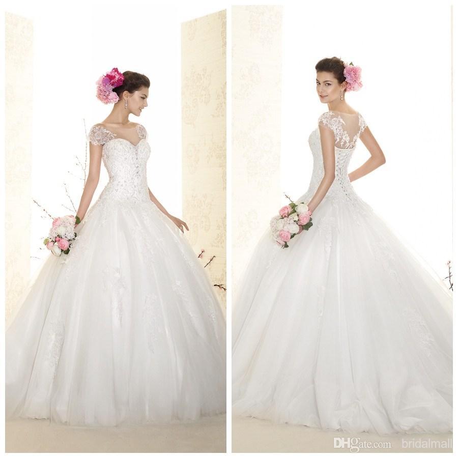Elegant Wedding Dress Up Games : Aliexpress buy ball gown wedding dresses cap
