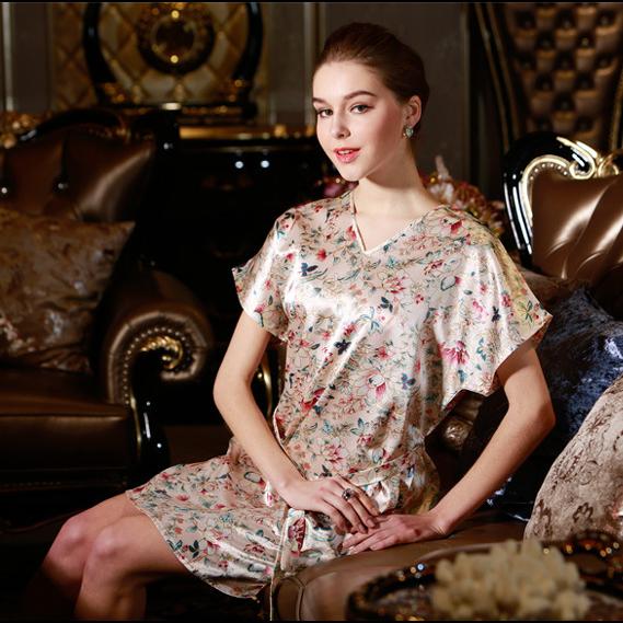 Женские ночные сорочки и Рубашки YT 2015 sleepshirt v/homedress RO01057 ночные сорочки и рубашки
