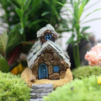 Розничная 4 дизайн коттедж потертый кукольный дом миниатюрный волшебный сад террариум бонсай дома для декора миниатюры смола ремесла реквизит DIY