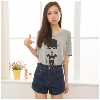 Большой размер горячая распродажа досуг высокая талия джинсы свободного покроя женщина ...