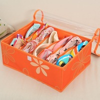 Free shipping storage box for Underwear, socks and clothing /storage box with  Transparent covers---7 cell