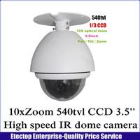 3.5 '' super PTZ mini high speed dome camera ,Sony 1/3 CCD 540TVL 10X optical zoom Outdoor