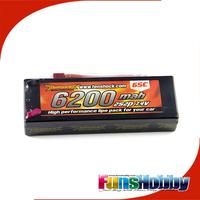 Tenshock High Quality 7.4V 6200mah 2S2P 65C Standard Hardcse Lipo Battery RC Car