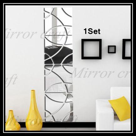 New 2015 30x120cm /set 3D Acrylic Mirror DIY home decorative mirror wall stickers home decor TV backdrop wall Stick Decor(China (Mainland))