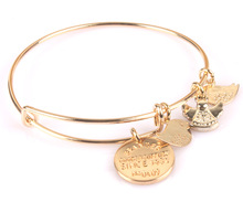 Coin Bracelet Fashion Bangle Gold Plate Simple wiring Alex and Ani Classic Bangle Luckly Bracelet Jewelry BR033