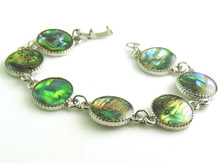 "Abalone Shell beads Round vintage chain Bracelet 7.87"" 20 cm YXBN15(China (Mainland))"
