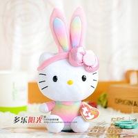 Multicolor TY Hello Kitty plush toys kawaii doll Rabbit Kitty cat 15cm cute cartoon stuffed animal girls toy gifts free shipping