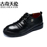Guciheaven men's leather shoes,British fashion cowhide men's shoes, casual men shoes,Spring and autumn fashion brand