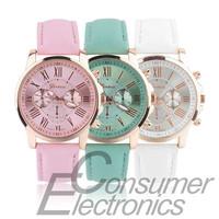 NEW Geneva Watch women Fashion Quartz Watches Leather Young Sports Women gold watch Casual Dress Wristwatches relogios feminino