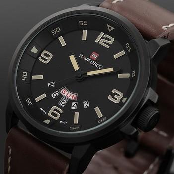2015 известный новое человек армия армия кожаный ремешок часы мужской свободного покроя бизнес кварцевые наручные часы 2015 Relogio Masculino