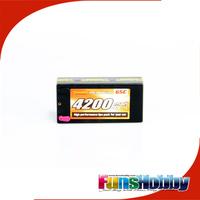 Tenshock 7.4V 4200mah 2S2P 65C Hardcse Lipo Battery For RC Radio Car Cod.TSPW-H42/65/22