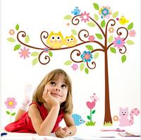 50*70CM  Cute Owl Tree Peel & Stick Wall Decal Kindergarten DIY Art Vinyl 3D Wall Stickers Decor Mural 95927
