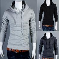 New 2015 Autumn Slim Fit Men Hoodies Mens Sports Casual Hoodies Sweatshirt Jackets Outerwear Fashion Men's Pullovers CX852549