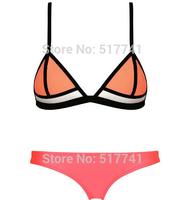 2015 New Bikini Sets Neoprene Push Up Bikini Sexy Neoprene Swimwear Swimsuit for women Summer Vocation