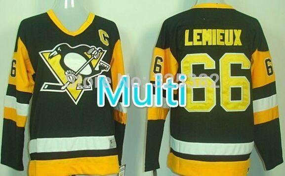 Hockey Mario Lemieux Jersey 66 Mario Lemieux Jersey