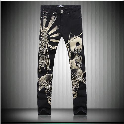 Men painted jeans,plus size perfume 212 men fashion jeans overalls true jeans men DSQ trousers pants(China (Mainland))