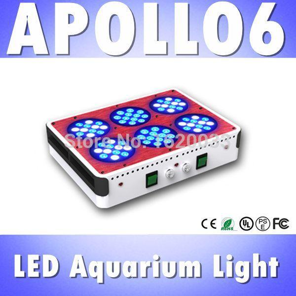 Apollo 6 72x3W aquarium led lighting lens heat sink, saltwater/ freshwater fish tank led reef marine aquarium acuarios aquario(China (Mainland))