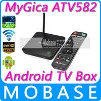 Geniatech MyGica ATV582 4K*2K XBMC Android TV BOX Amlogic S802-B Quad Core Android 4.4 1G RAM 8G eMMC Bluetooth Google GMS Black