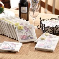 [12 packs]100% virgin wood pulp food-grade printed paper napkins wedding paper napkin colorful party paper serviettes -4NC5117