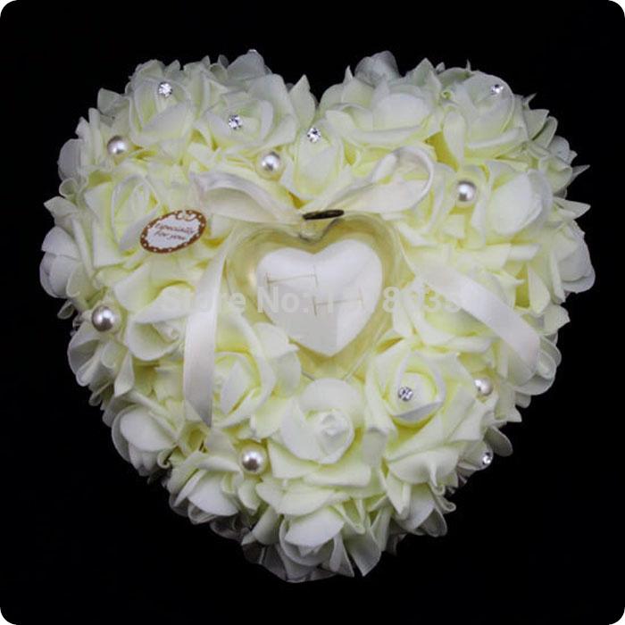 de mariage Favors anneau oreiller rose boîte de bague en forme de ...