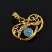 Rhinestone Muslim Evil Eye Charm Jewlery 18K Yellow Gold Plated