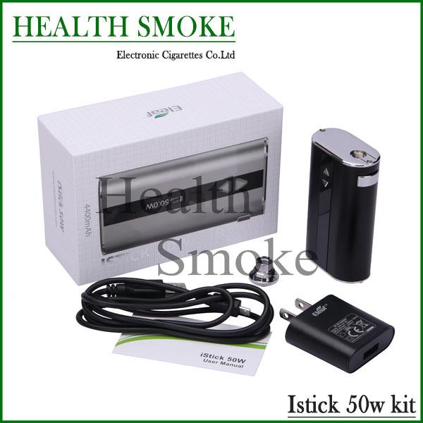 2015 Hot sell Original Eleaf iStick 50w mod sample pack 50W kit Ismoka iStick Battery 4400mah Variable Wattage With OLED Screen(China (Mainland))
