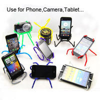 Free shipping hot sale high quality versatile bendable arachnid spider stand holder bracekt for iphone 5  mobile phone