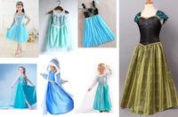 Retail  new  2015 hot  sale  baby Girl Frozen Elsa dress Spring children Princess casual dress  kids clothes vestidos Low Price