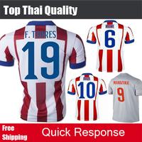 2015 Player Version F.TORRES KOKE ARDA GABI Griezmann Soccer Jerseys MANDZUKIC Raul Jimenez Camiseta 14 15 Grey Football Shirt