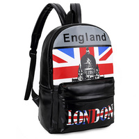 2015 New design UK fashion backpack schoolbag travel bag women lady girl sport bags high quality PU leather bags free shipping
