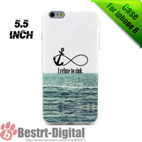 Free Shipping, New TPU Soft Skin refuse to sink for iphone 6 Plus case, 5.5 inch Phone case cover shell