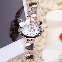 2015 New for Girls Wristwatches Ladies Quartz Table Hello Kitty Accessories Bracelet Band Watches Women Fashion Luxury watch