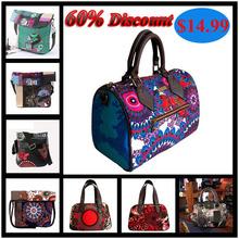 Discount 2015 Spanish brand women bag Embroidery Handbag women Shoulder Messenger Bags women genuine leather bag bolsas(China (Mainland))