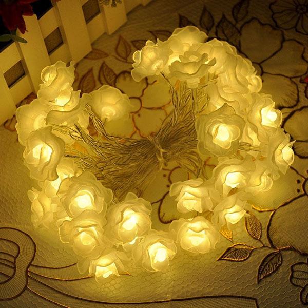 [GOODIA]-2M Flower String Light Fairy Garland Home Decor Lighting Christmas Party Wedding Strip Light Cherry Lamp luminaria(China (Mainland))