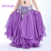 Belly Dance Costume Three Layers Performance Skirt Dress 12 Colors (no belt)