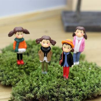 1 шт. прекрасный pepole девушки женщин мэй высокая 4 см волшебный сад миниатюры гном мосс террариум домашнего декора ремесла бонсай домашнего декора для DIY