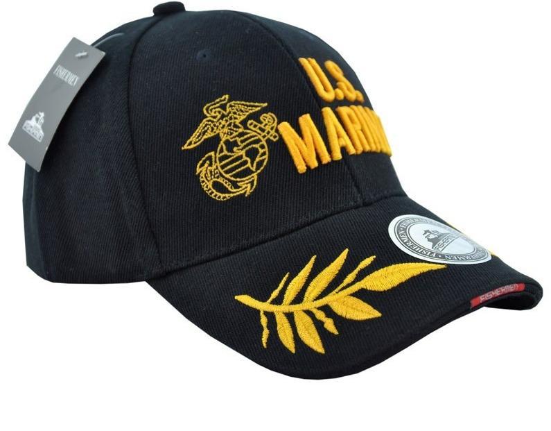 2015 custom outdoor men Embroidery US Marines 100% cotton baseball cap golf hat(China (Mainland))