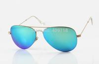 New Style Best Quality Designer Sunglass Men's/Women's Brand 3513 Flat Metal Gold Sunglass Jade Iridium Lens 58mm Box