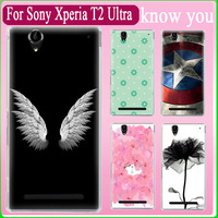Free shipping!!!!The leopard new 2015 hard print Plastic back cover phone case For sony xperia T2 Ultra fit sony T2 Phone cover